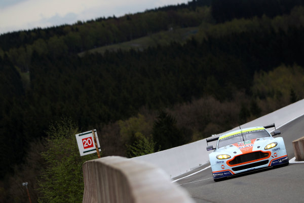 2015 FIA World Endurance Championship, Spa-Francorchamps, Belgium. 30th April - 2nd May 2015. Darren Turner / Stefan Mucke / Rob Bell Aston Martin Racing Aston Martin Vantage V8. World Copyright: Ebrey / LAT Photographic.