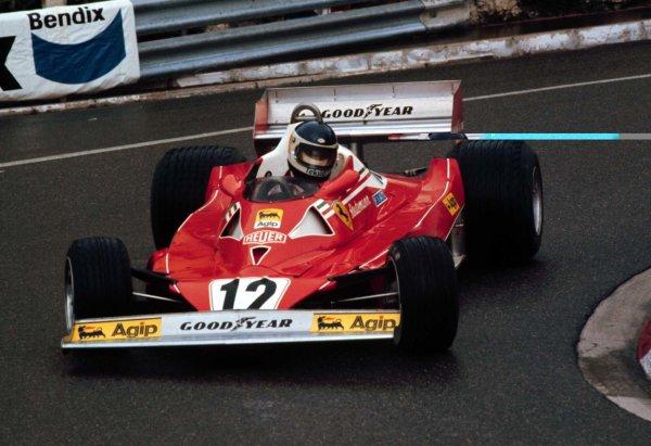 1977 Monaco Grand Prix.Monte Carlo, Monaco.20-22 May 1977.Carlos Reutemann (Ferrari 312T2) 3rd position.World Copyright - LAT Photographic