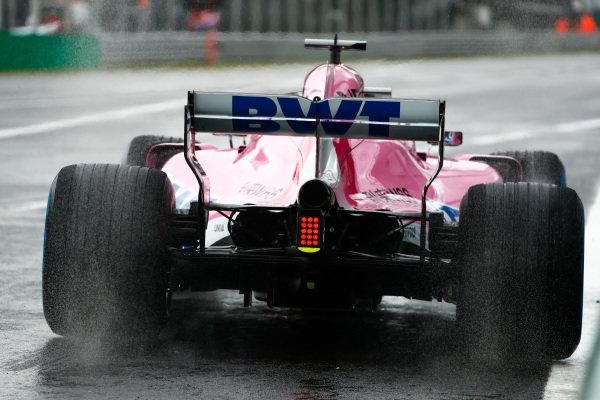 Sergio Perez, Racing Point Force India VJM11 Mercedes.
