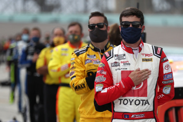 Erik Jones, Joe Gibbs Racing Toyota Toyota Accessories, Copyright: Chris Graythen/Getty Images.