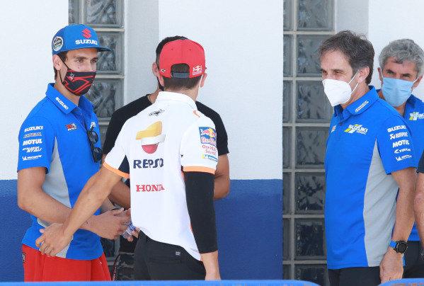 Alex Rins, Team Suzuki MotoGP, Marc Marquez, Repsol Honda Team, Davide Brivio.