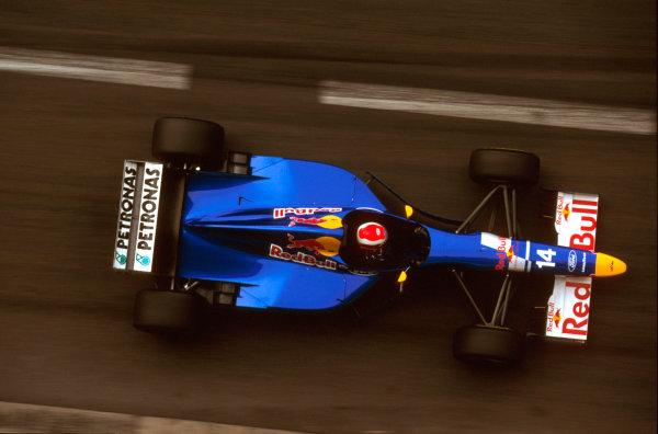 Monte Carlo, Monaco.16-19 May 1996.Johnny Herbert (Sauber C15 Ford) 3rd position.Ref-96 MON 14.World Copyright - LAT Photographic