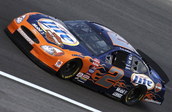 Rusty Wallace (USA) Penske Racing Ford sported a special Harley Davidson paint scheme.