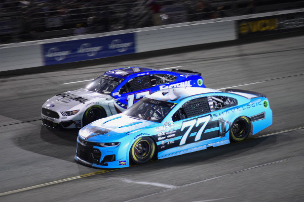 #77: Justin Haley, Spire Motorsports, Chevrolet Camaro Shavelogic, #17: Chris Buescher, Roush Fenway Racing, Ford Mustang Fastenal