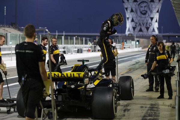 Nico Hulkenberg, Renault Sport F1 Team, exits his car.
