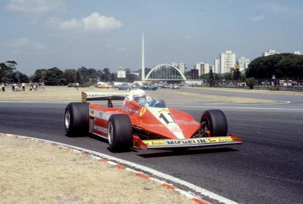 1979 Argentinian Grand Prix.Buenos Aires, Argentina.19-21 January 1979.Jody Scheckter (Ferrari 312T3).Ref-79 ARG 10.World Copyright - LAT Photographic