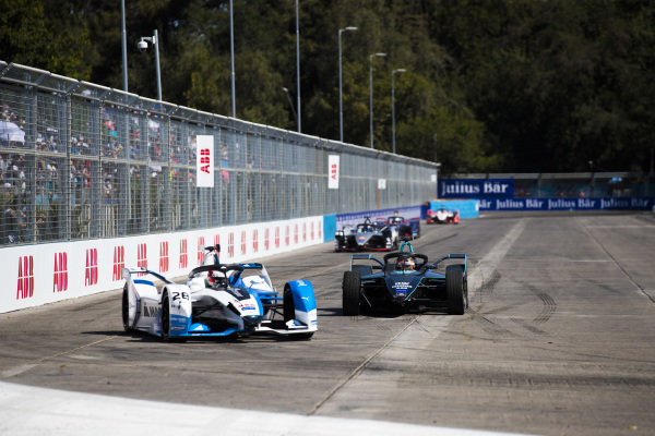 Antonio Felix da Costa (PRT), BMW I Andretti Motorsports, BMW iFE.18 leads Stoffel Vandoorne (BEL), HWA Racelab, VFE-05