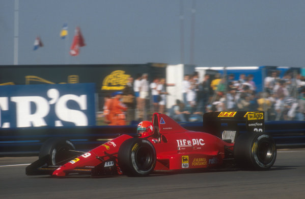 1990 British Grand Prix.Silverstone, England.13-15 July 1990.Bruno Giacomelli (Life 190). He failed to pre-qualify.Ref-90 GB 09.World Copyright - LAT Photographic