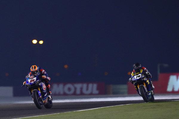 Michael van der Mark, Pata Yamaha, Loris Baz, Ten Kate Racing Yamaha,  WorldSBK race2, Qatar 2019.