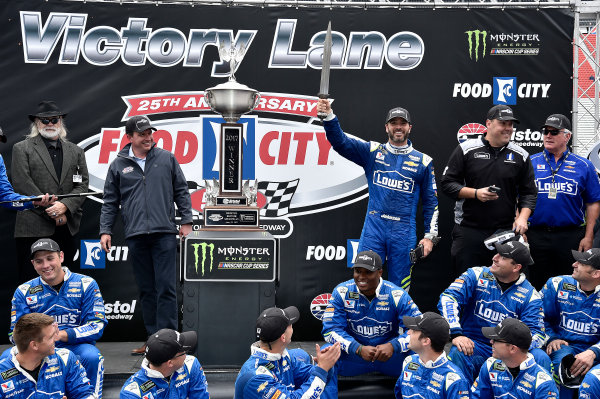 Monster Energy NASCAR Cup Series Food City 500 Bristol Motor Speedway, Bristol, TN USA Jimmie Johnson wins the Food City 500 World Copyright: Rusty Jarrett LAT Images ref: Digital Image 17BMS1rj_8502