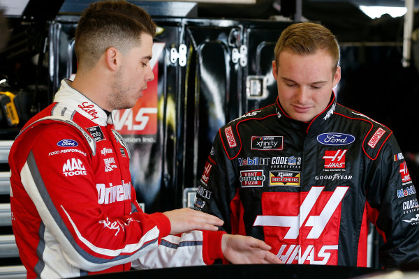 NASCAR Xfinity Series PowerShares QQQ 300 Daytona International Speedway, Daytona Beach, FL USA Friday 16 February 2018 Ryan Reed, Roush Fenway Racing, Drive Down A1C Lilly Diabetes Ford Mustang and Cole Custer, Stewart-Haas Racing with Biagi-Denbeste Racing, Haas Automation Ford Mustang World Copyright: Russell LaBounty LAT Images