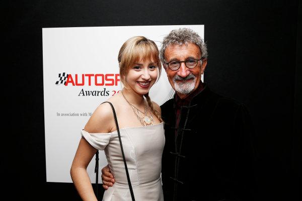 2015 Autosport Awards. Grosvenor House Hotel, Park Lane, London. Sunday 6 December 2015. Eddie Jordan with guest. World Copyright: Adam Warner/LAT Photographic. ref: Digital Image _L5R8999