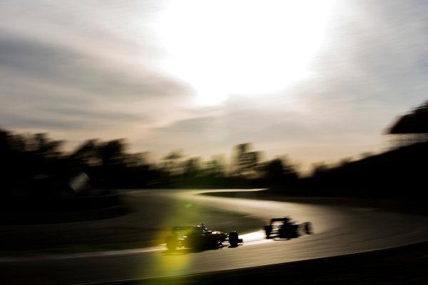 Circuit de Catalunya, Barcelona, Spain Wednesday 2 March 2016. Nico Rosberg, Mercedes F1 W07 Hybrid, leads Sebastian Vettel, Ferrari SF16-H. World Copyright: Zak Mauger/LAT Photographic ref: Digital Image _79P0837