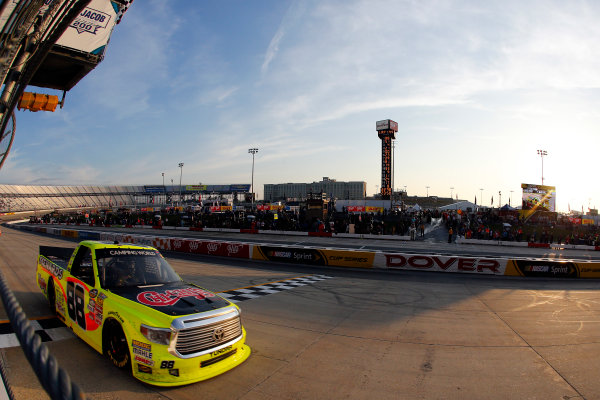 12-13 May, 2016, Dover, Delaware USA Matt Crafton drives under the checkered flag to win ?2016, Russell LaBounty LAT Photo USA