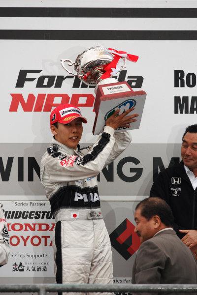 Twin Ring Motegi, Japan. 30th - 31st May 2009.Rd3 - Winner Takashi Kogure ( #32 NAKAJIMA RACING ) 1st position. Podium.World Copyright: Yasushi Ishihara/LAT Photographicref: Digital Image 2009FN_Rd3_007