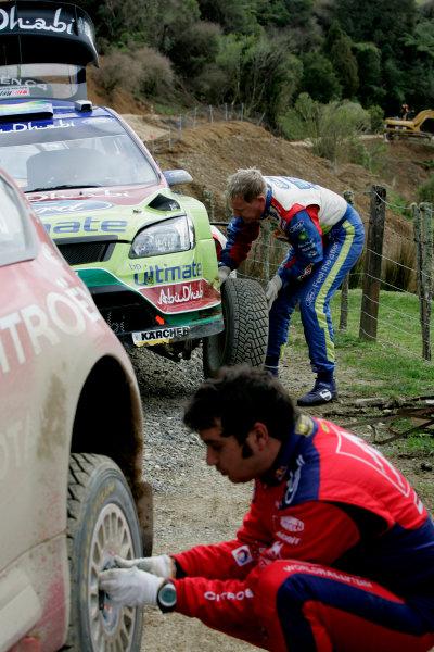 Rally New Zealand, 28th - 31st  August   2008World Copyright: McKlein/LATJarmo Lehtinen, Daniel Elena, Citroen, Ford, service