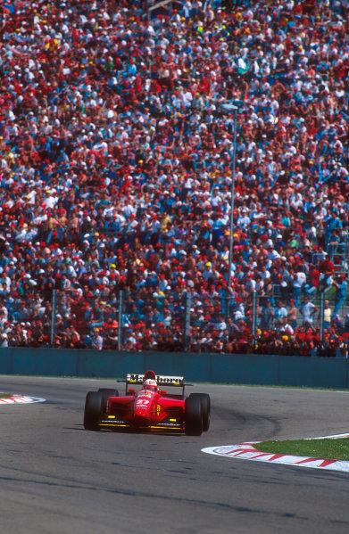Imola, Italy.29/4-1/5 1994.Nicola Larini (Ferrari 412T1) 2nd position.Ref-94 SM 51.World Copyright - LAT Photographic