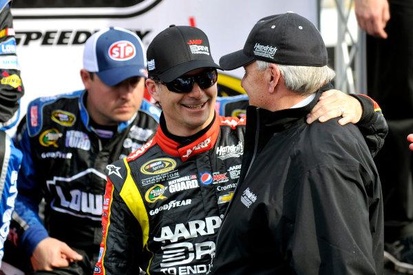 5-7 April, 2013, Martinsville, Virginia USA Jeff Gordon and Rick Hendrick in Victory Lane ©2013, Nigel Kinrade LAT Photo USA