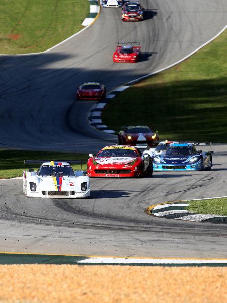 18-20 April, 2013, Braselton, Georgia USA A pack of cars races through the esses. ©2013, R D. Ethan LAT Photo USA