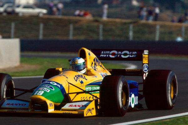 Barcelona, Spain. 27-29 September 1991.Michael Schumacher (Benetton B191-Ford), 6th position, action. Ref-91 ESP 29.World Copyright - LAT Photographic