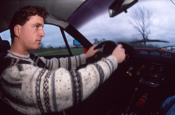 Eddie Irvine at home in Ireland