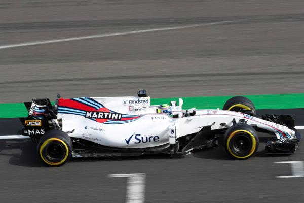 Silverstone, Northamptonshire, UK.  Friday 14 July 2017. Felipe Massa, Williams FW40 Mercedes. World Copyright: LAT Images  ref: Digital Image MALC4212