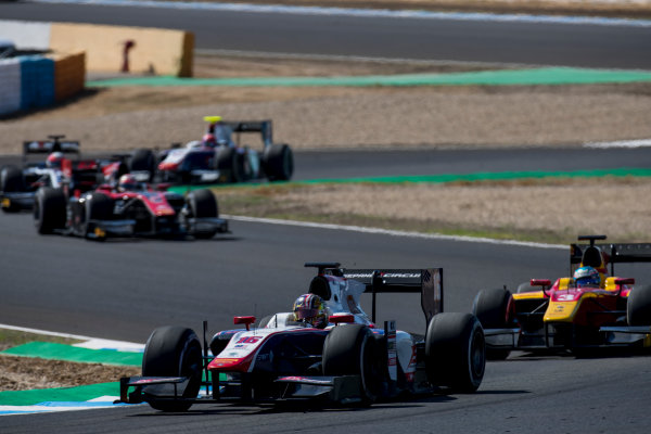 2017 FIA Formula 2 Round 10. Circuito de Jerez, Jerez, Spain. Sunday 8 October 2017.Nabil Jeffri (MAS, Trident).  Photo: Zak Mauger/FIA Formula 2. ref: Digital Image _56I7698