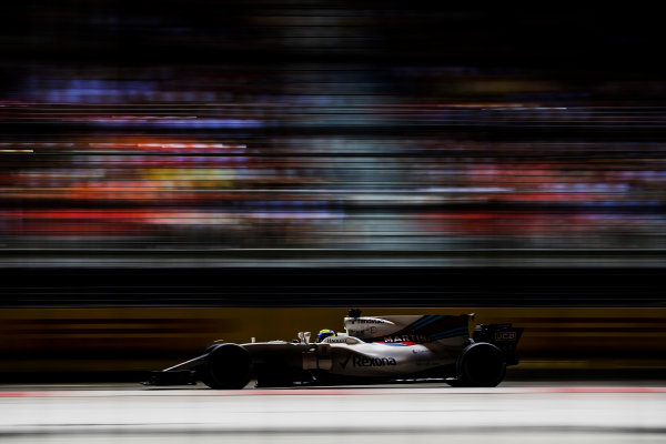 Marina Bay Street Circuit, Marina Bay, Singapore. Sunday 17 September 2017. Felipe Massa, Williams FW40 Mercedes.  World Copyright: Zak Mauger/LAT Images ref: Digital Image _56I7866