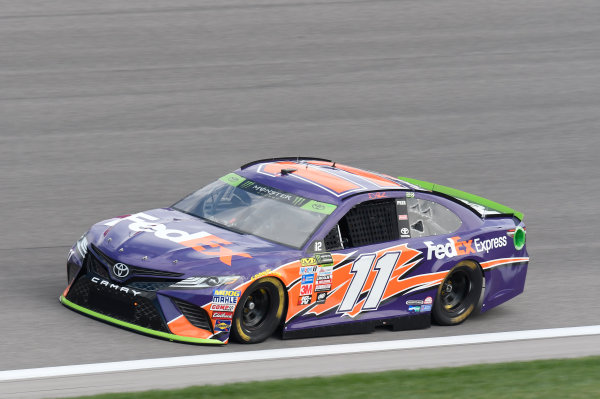 Monster Energy NASCAR Cup Series Hollywood Casino 400 Kansas Speedway, Kansas City, KS USA Friday 20 October 2017 Denny Hamlin, Joe Gibbs Racing, FedEx Express Toyota Camry World Copyright: John K Harrelson LAT Images
