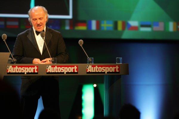 2005 Autosport AwardsGrosvenor House, London. 4th December.David Richards on stage.World Copyright: Glenn Dunbar/LAT Photographicref: Digital Image Only