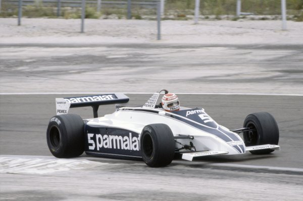 1981 French Grand Prix.Dijon-Prenois, France. 3-5 July 1981.Nelson Piquet (Brabham BT49C-Ford Cosworth), 3rd position.World Copyright: LAT PhotographicRef: 35mm transparency 81FRA08