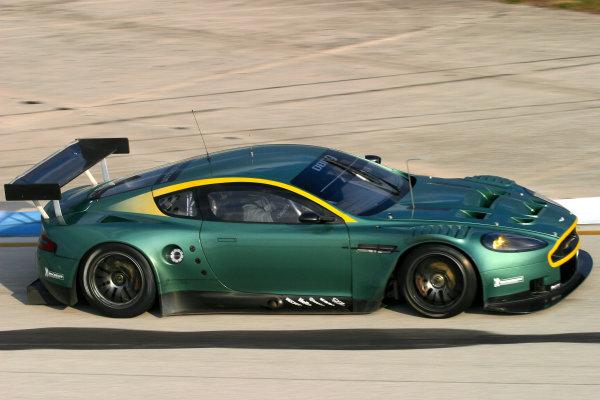 January 31-Feb. 3, 2005, SEBRING INTERNATIONAL RACEWAY THE NO 57 ASTON MARTIN DBR9 OF DAVID BRABHAM, TOMAS ENGE & DARREN TURNER-2005, GREG ALECK