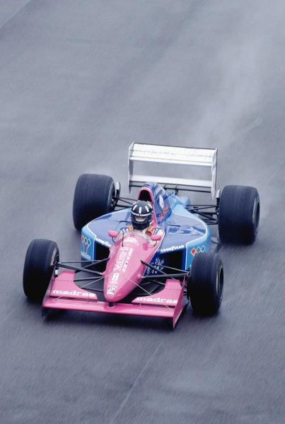 1992 British Grand Prix.Silverstone, England. 10-12 July 1992.Damon Hill (Brabham BT60B Judd) on his Grand Prix debut.Ref-92 GB 48.World Copyright - LAT Photographic