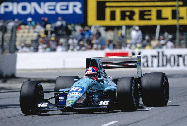 1992 Australian Grand Prix.Adelaide, Australia. 6-8 November 1992.Jan Lammers (March CG911 Ilmor) 12th position.Ref-92 AUS 34.World Copyright - LAT Photographic