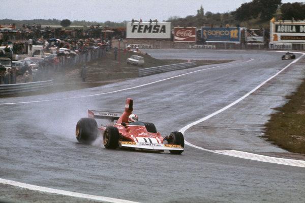 1974 Spanish Grand Prix.  Jarama, Madrid, Spain. 26-28th April 1974.  Clay Regazzoni, Ferrari 312B3, 2nd position.  Ref: 74ESP01. World Copyright: LAT Photographic