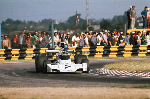 1974 Argentinian Grand Prix  Buenos Aires, Argentina. 11-13th January 1974.  Carlos Reutemann, Brabham BT44 Ford, 7th position.  Ref: 74ARG07. World Copyright: LAT Photographic