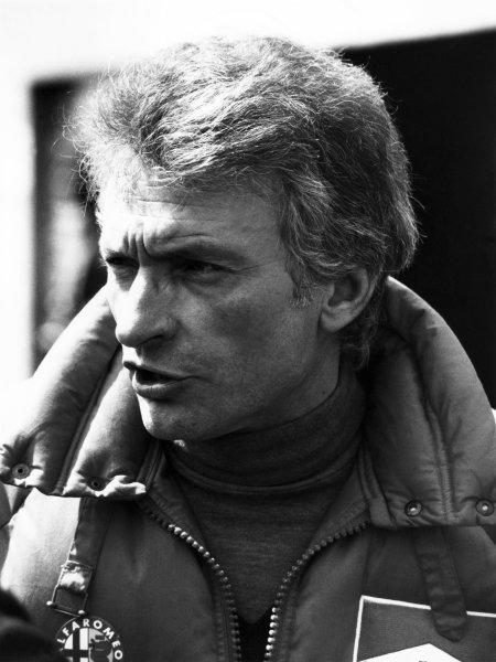 1982 San Marino Grand Prix. Imola, Italy. 23rd - 25th April 1982. Gerard Ducarouge, Alfa Romeo designer, portrait.  World Copyright: LAT Photographic.  Ref:  B/W Print.