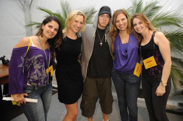 Eminen (USA), Rapper, centre.F1 Rocks With LG, Sao Paulo, Brazil, 6-7 November 2010.