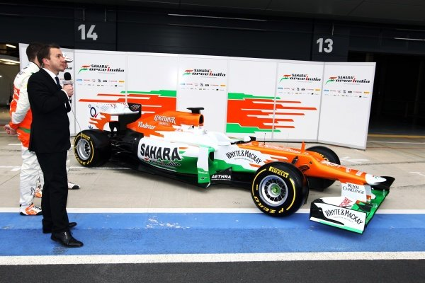 The new Force India VJM05. Sahara Force India VJM05 Unveil, Silverstone, England, Friday 3 February 2012.