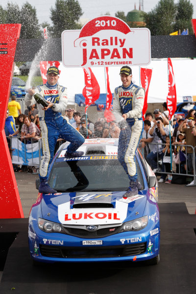 Winner PWRC, Patrick Flodin (SWE), Goran bergsten (SWE), Subaru Impreza PWRC, 2010 FIA World Rally Championship Round Rally Japan 9-12/9 2010 Worldwide Copyright: McKlein/LAT