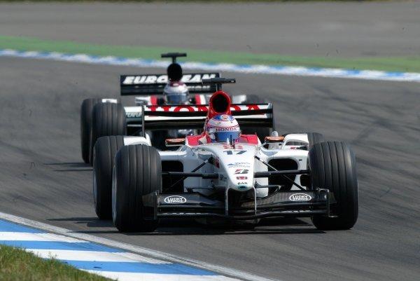 Jenson Button (GBR) BAR Honda 005 finished eighth.Formula One World Championship, Rd12, German Grand Prix, Race Day, Hockenheim, Germany, 3 August 2003.DIGITAL IMAGE
