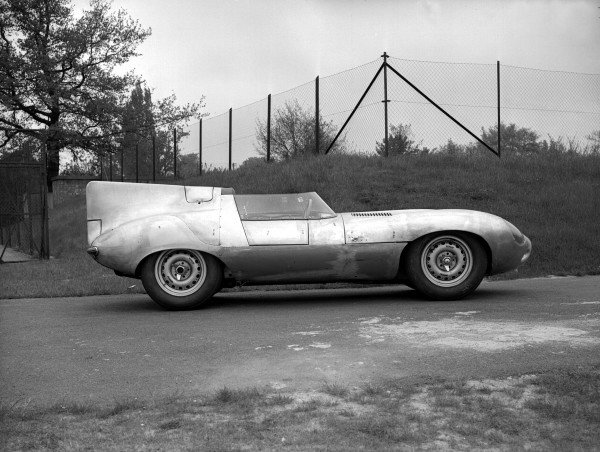 Le Mans, France. 11-12 June 1955.The Jaguar D-type prototype outside the factory. It was not raced.Ref-Motor 626/15.World Copyright - LAT Photographic