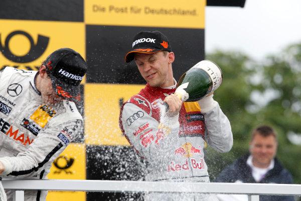 2014 DTM Championship Round 4 - Norisring, Germany 27th - 29th June 2014  Podium, Mattias Ekstroem (SWE), Audi Sport Team Abt Sportsline, Audi A5 DTM World Copyright: XPB Images / LAT Photographic  ref: Digital Image 3190687_HiRes