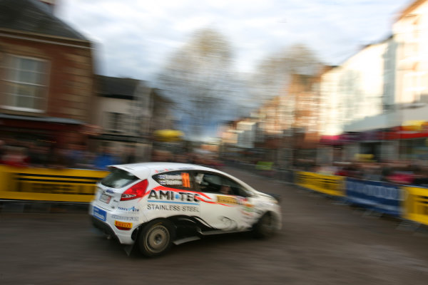 Pirelli International Rally, Carlisle, Cumbria. 27th - 28th April 2012.Jussi Kumpumaki/Marko Salminen Ford Junior Team Finland Ford Fiesta R2.World Copyright: Ebrey/LAT Photographic.