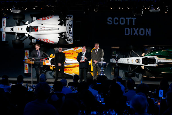 6 December, 2012, Indianapolis, Indiana, USA 3rd place finisher Scott Dixon.(c) 2012, Michael L. Levitt LAT Photo USA