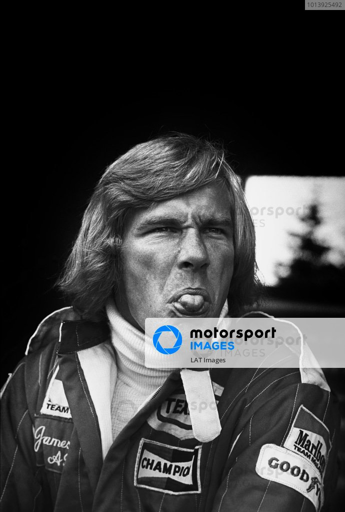Nurburgring, Germany. 1st August 1976. James Hunt (McLaren M23 Ford), 1st position, portrait. World Copyright: LAT Photographic Ref: 8962 - 9A.
