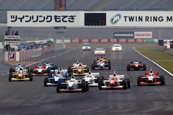 2004 Formula Nippon ChampionshipMotegi, Japan. 6th June 2004.Start of the race.World Copyright: Yasushi Ishihara/LAT Photographicref: Digital Image Only