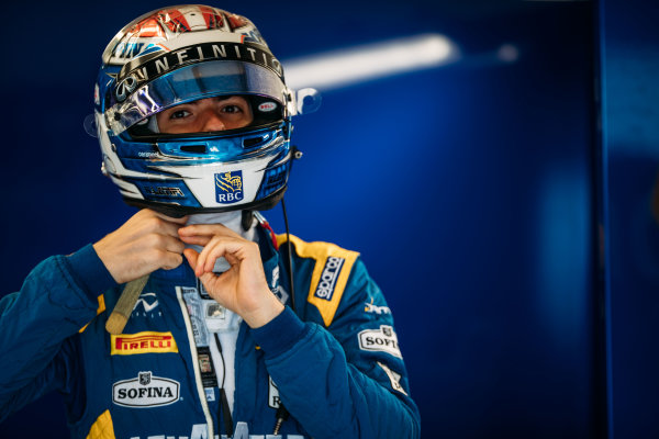 2017 FIA Formula 2 Round 6. Silverstone, Northamptonshire, UK. Thursday 13 July 2017. Nicholas Latifi (CAN, DAMS).  Photo: Malcolm Griffiths/FIA Formula 2. ref: Digital Image MALC2451
