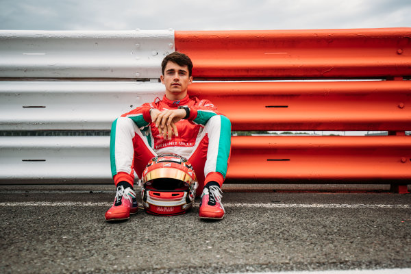 2017 FIA Formula 2 Round 6. Silverstone, Northamptonshire, UK. Thursday 13 July 2017. Charles Leclerc (MCO, PREMA Racing).  Photo: Malcolm Griffiths/FIA Formula 2. ref: Digital Image MALC0559