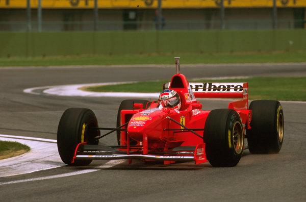 Imola, San Marino.25-27 APRIL 1997.Michael Schumacher (Ferrari F310B) 2nd position.Ref-97 SM 13.World  Copyright - LAT Photographic